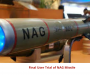 Final User Trial of NAG Missile