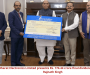 Bharat Electronics Limited presents Rs. 174.44 crore final dividend Cheque to Rajnath Singh